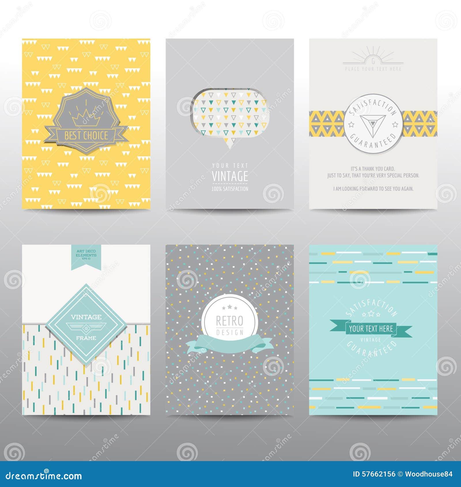 Set Geometryczne broszurki i karty