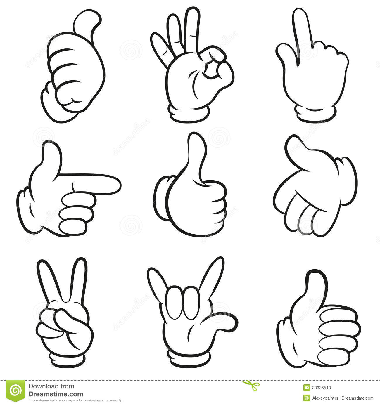 Set planets solar system cartoon style flat icon stock vector image - Set Of Gestures Hands Symbols Signals Collection