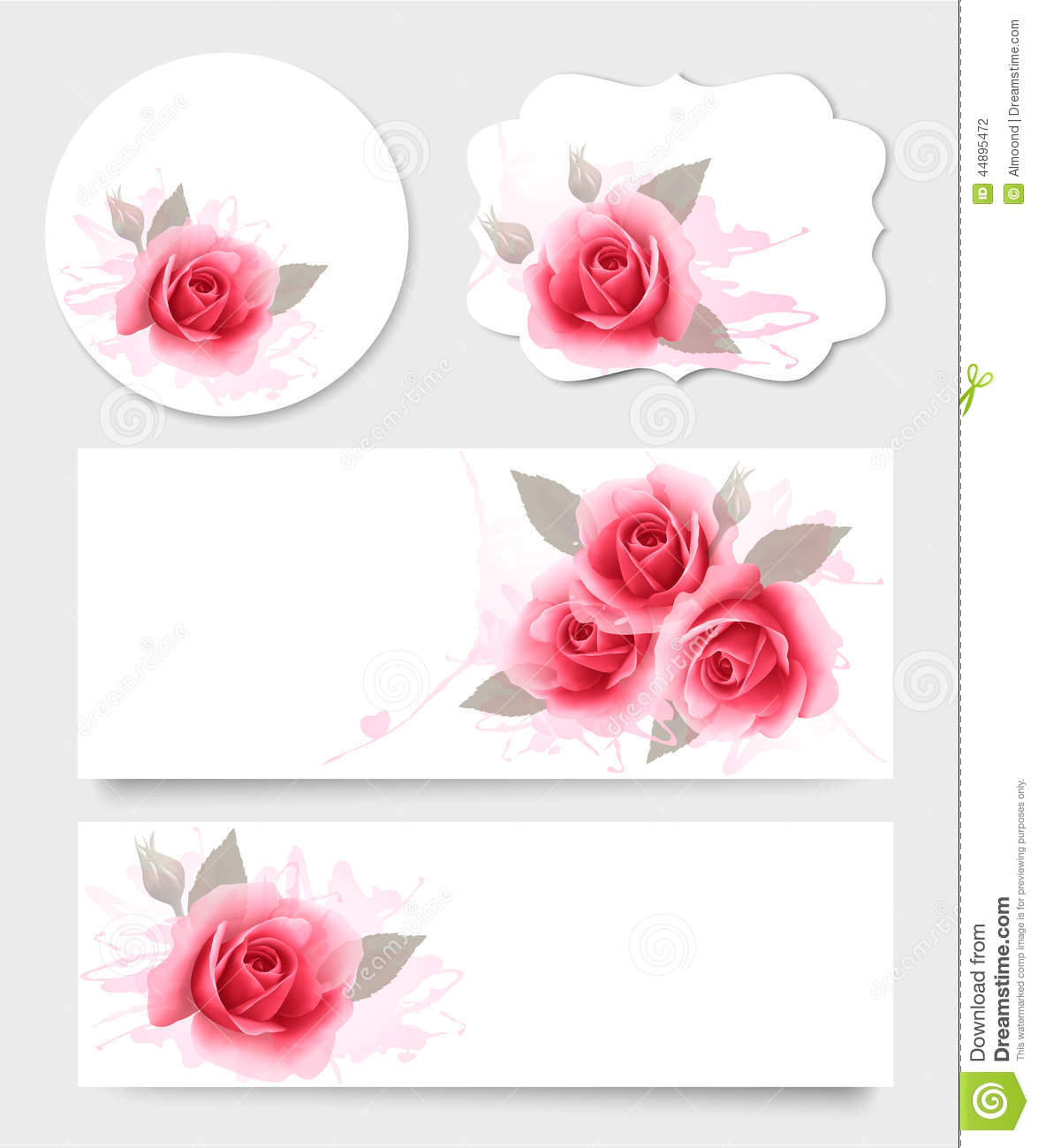 Set of gift cards and banners with beautiful flowers stock vector download set of gift cards and banners with beautiful flowers stock vector illustration of izmirmasajfo