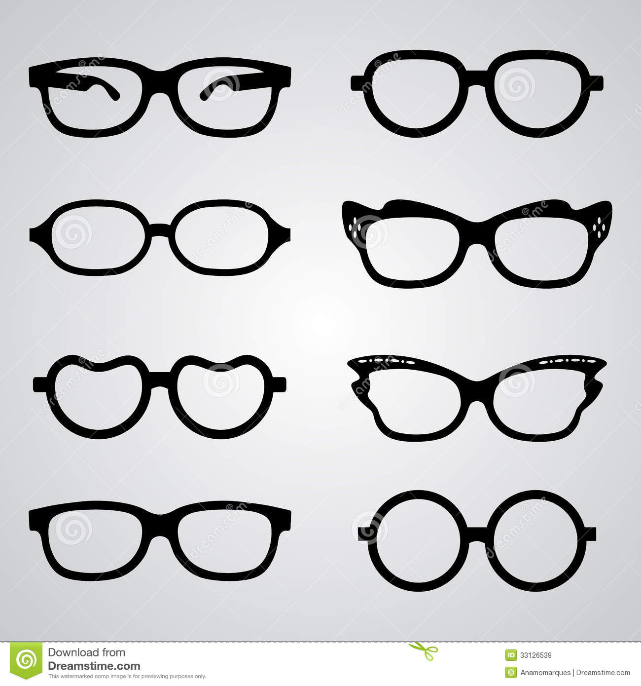 Set Of Glasses Royalty Free Stock Images - Image: 33126539