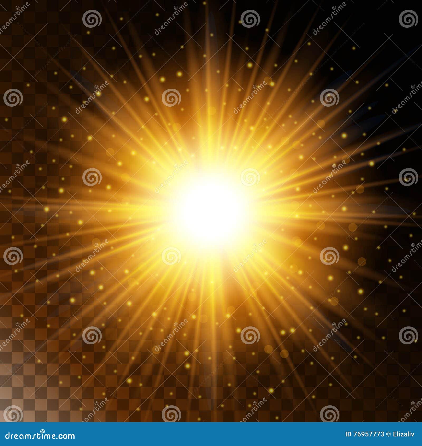 Set Of Glowing Light Effect Star, The Sunlight Warm Yellow Glow ... for Sun Light Effect Hd  557yll