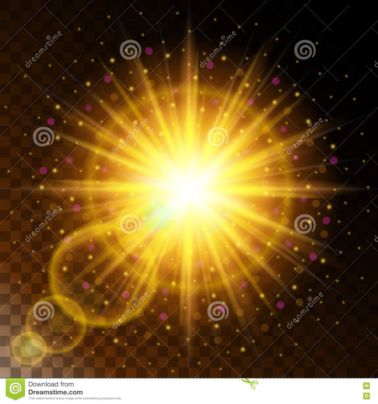 Set Of Glowing Light Effect Star, The Sunlight Warm Yellow Glow ... for Sun Light Effect Background  55jwn