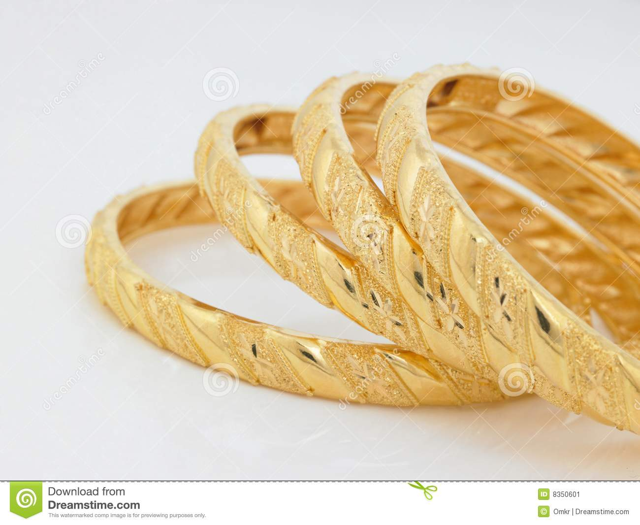 Set of gold bangles stock image. Image of four, love ...