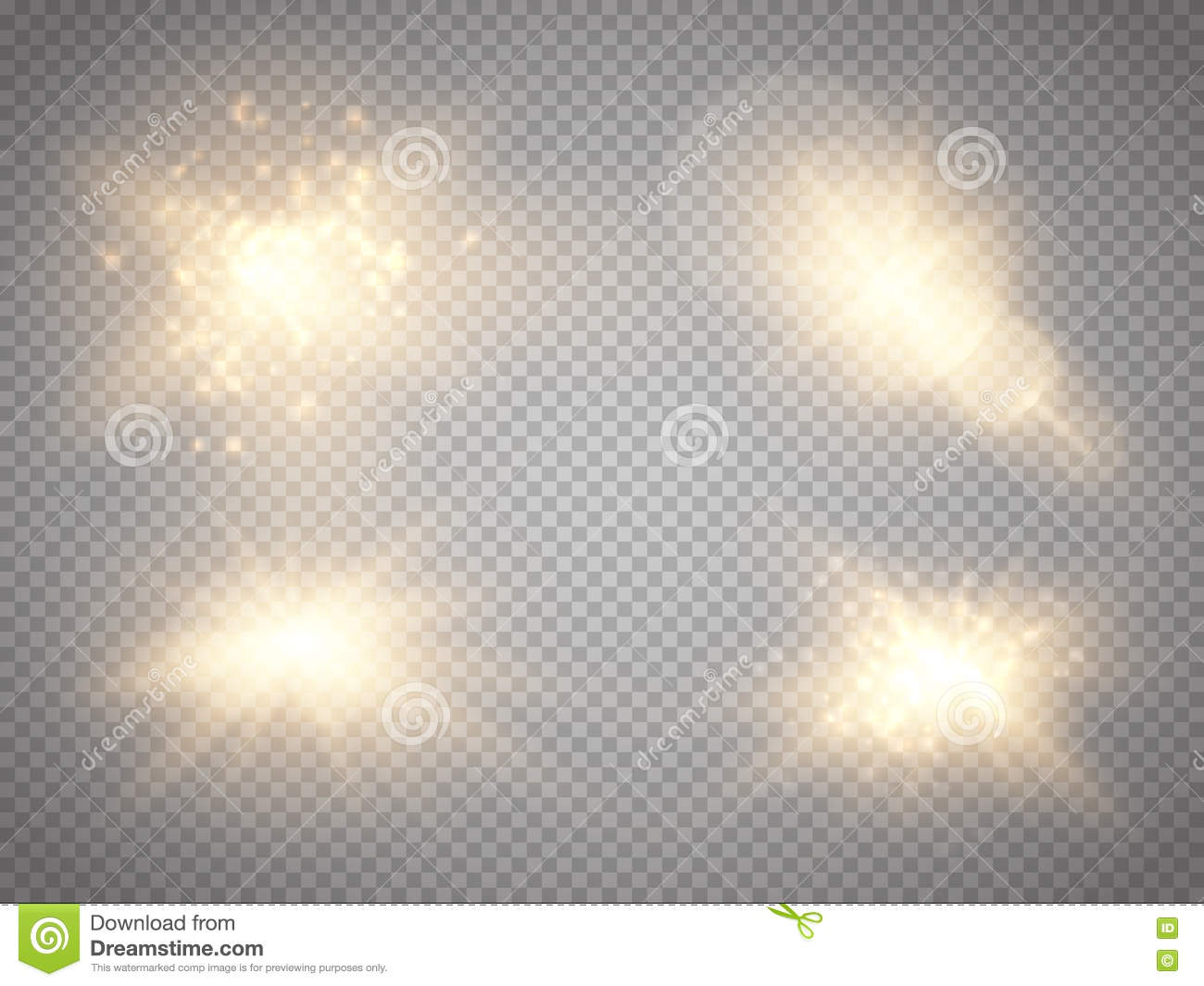 Gold glitter bright vector transparent background golden sparkles - Set Of Golden Glowing Lights Effects Isolated On Transparent Background Glow Light Effect Star