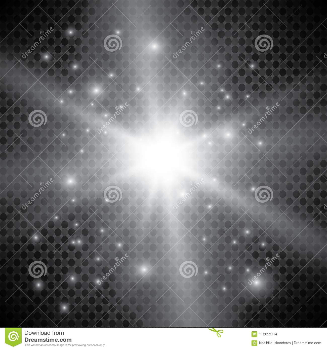 Set Of Golden Glowing Lights Effects Isolated On Transparent