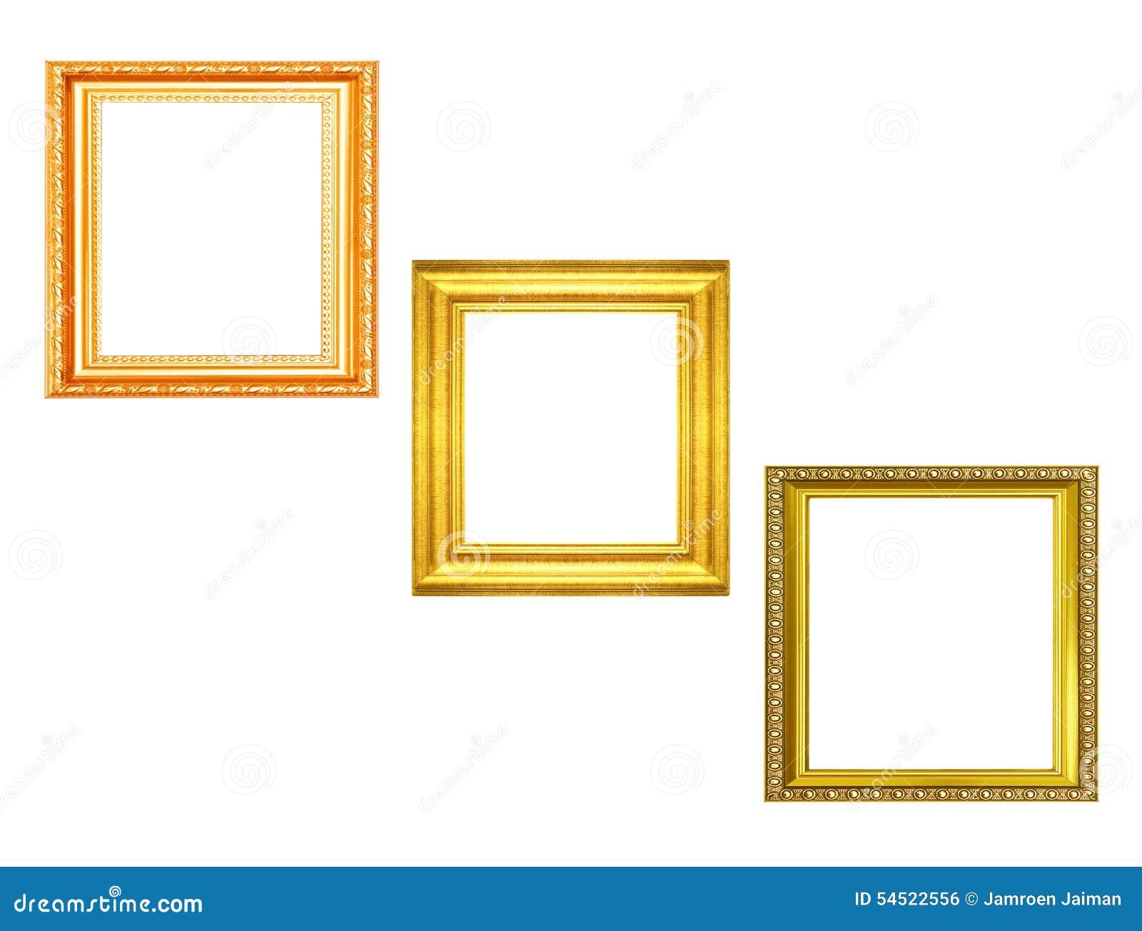 2298dda422df Set Of Golden Vintage Frame Isolated On Black Background Stock Photo ...