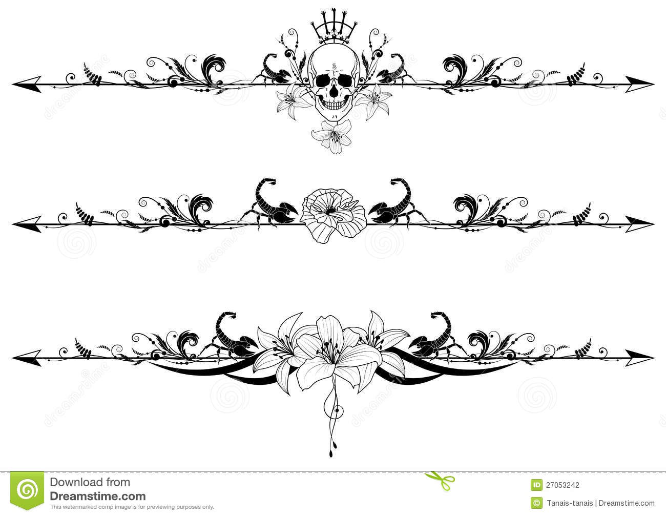 Set Of Gothic Borders ...