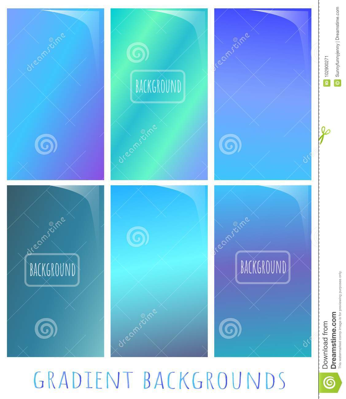 set of gradient vector backgrounds cold nuance winter colors stockset of gradient vector backgrounds cold nuance winter colors