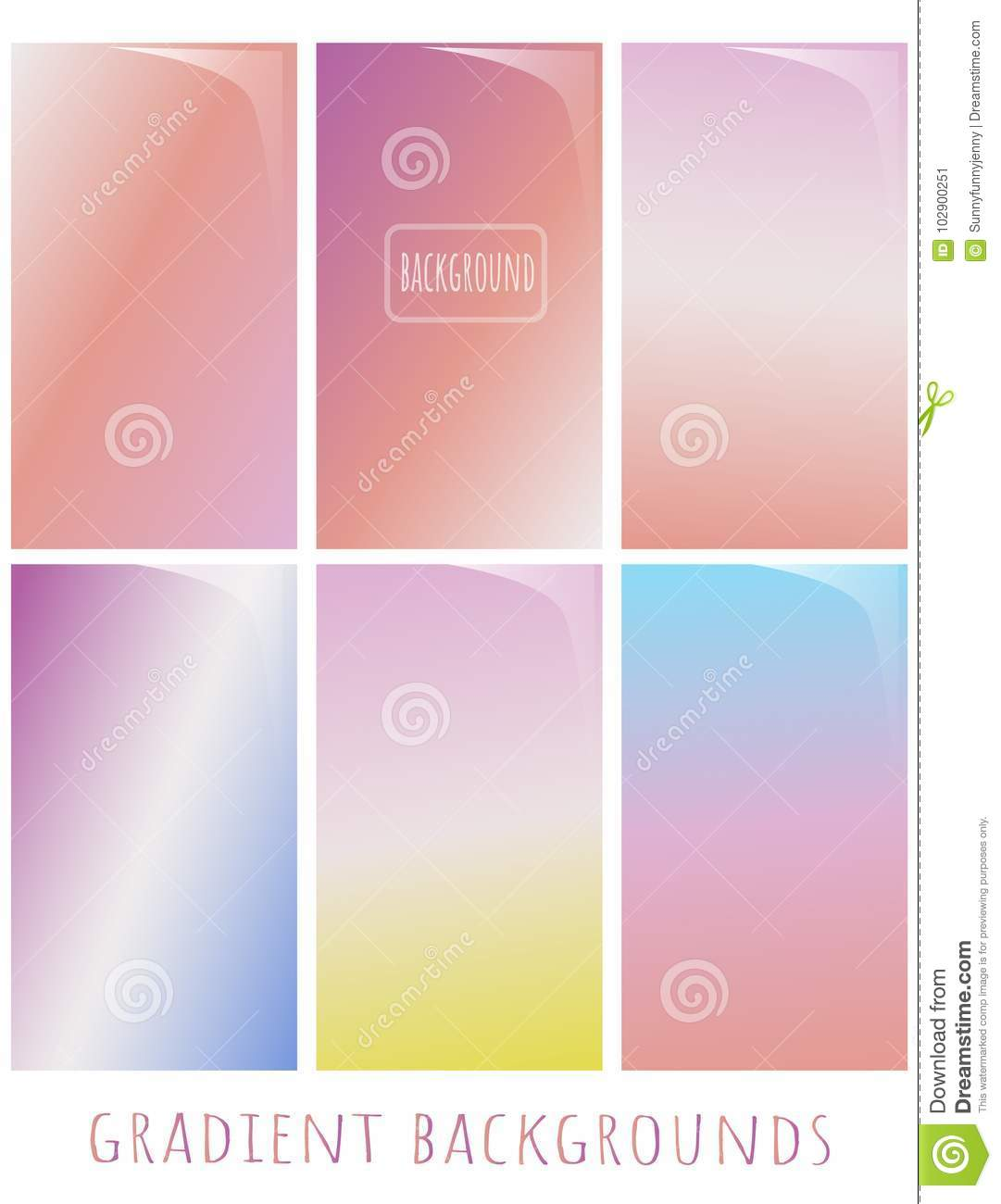 set of gradient vector backgrounds gentle nuance spring colorsset of gradient vector backgrounds gentle nuance spring color can use for website, cover, blank, wallpaper, background of a greeting card, presentation,