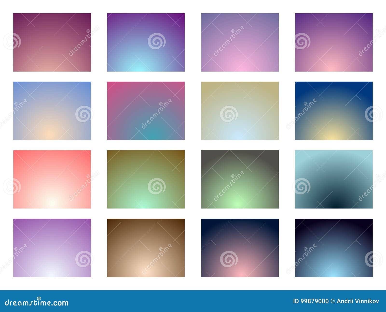 Set gradientowi tła kolor miękka część wektor