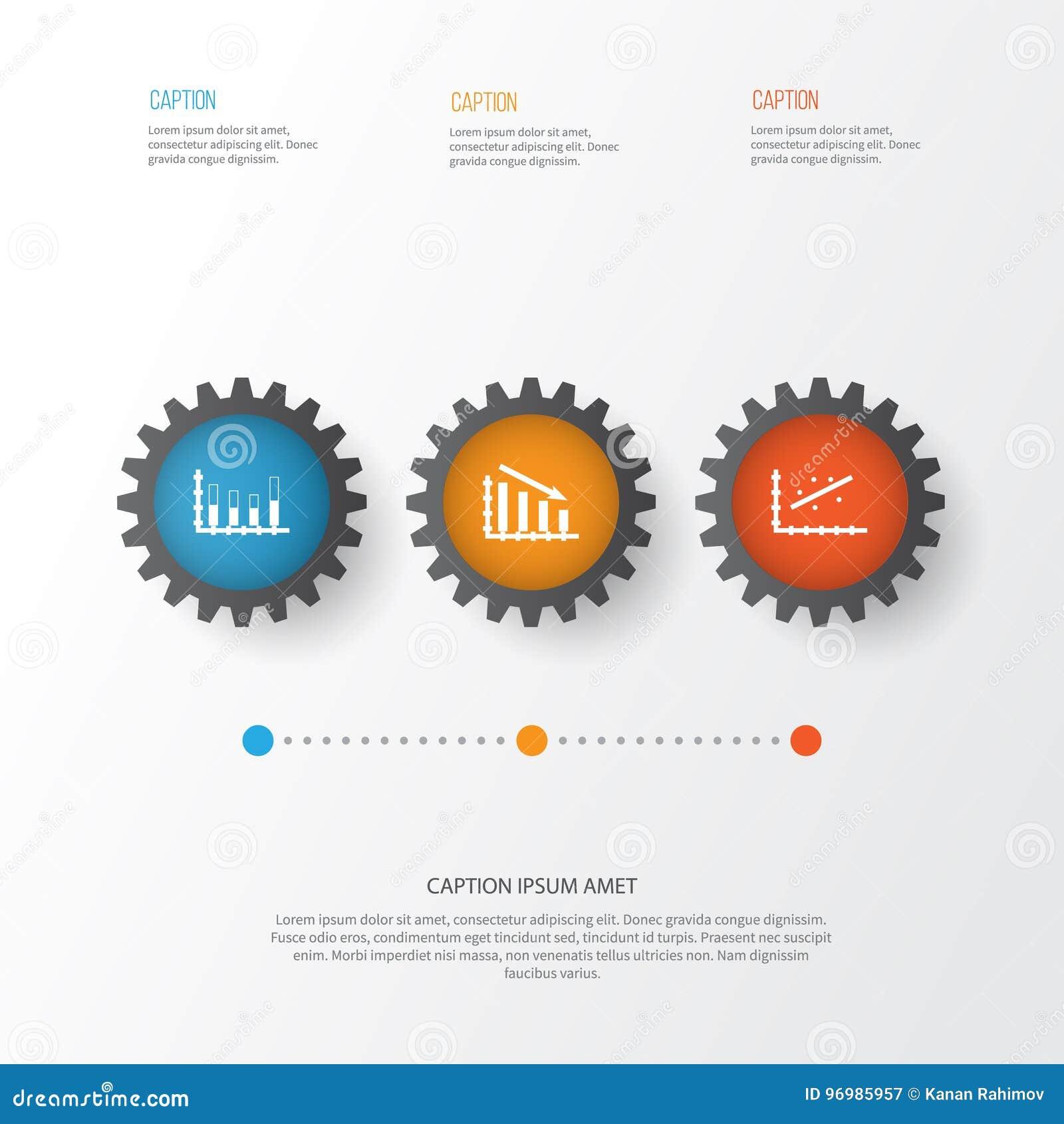 Set Of Graphs Diagrams And Statistics Icons Premium Quality Symbol