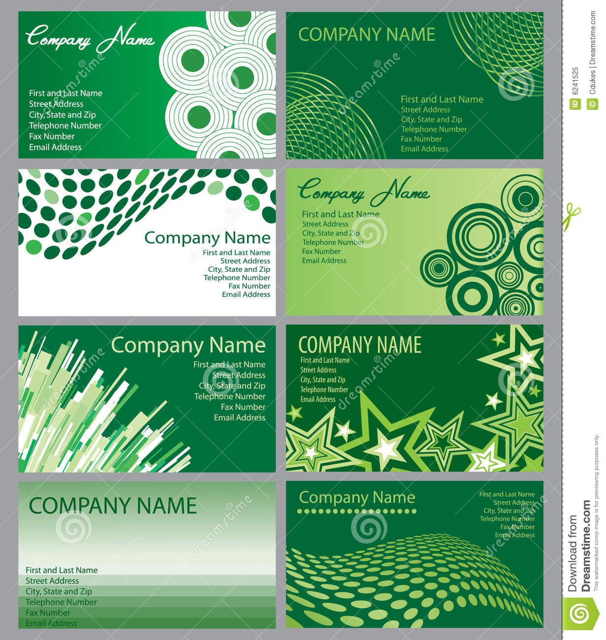 Set of green business cards stock vector illustration of banner set of green business cards colourmoves