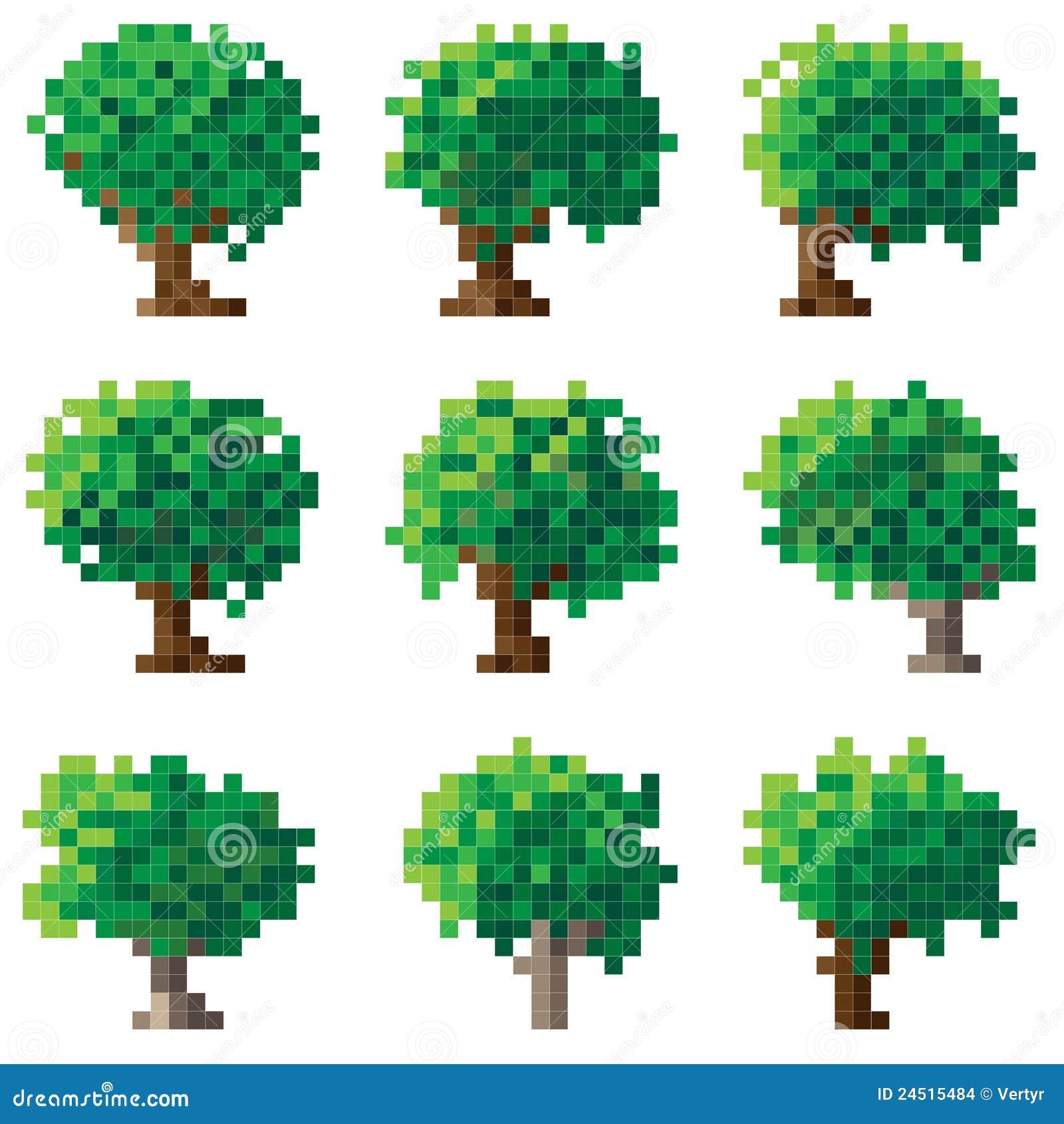 More Similar Stock Images Of Set Green Pixel Tree