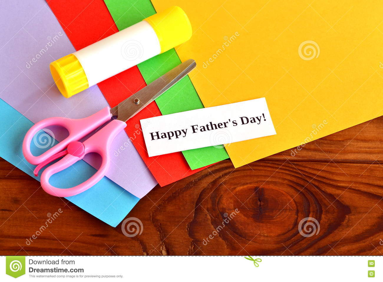 Set For Greeting Card Fathers Day Happy Fathers Day Kids Crafts