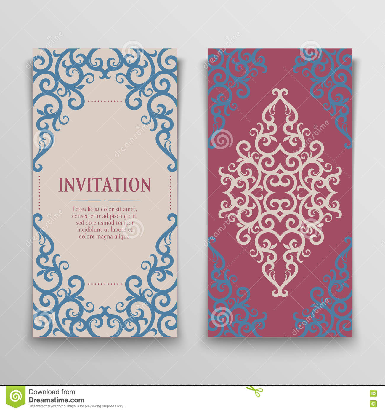 Set of greeting cards stock vector illustration of invitation set of greeting cards kristyandbryce Images