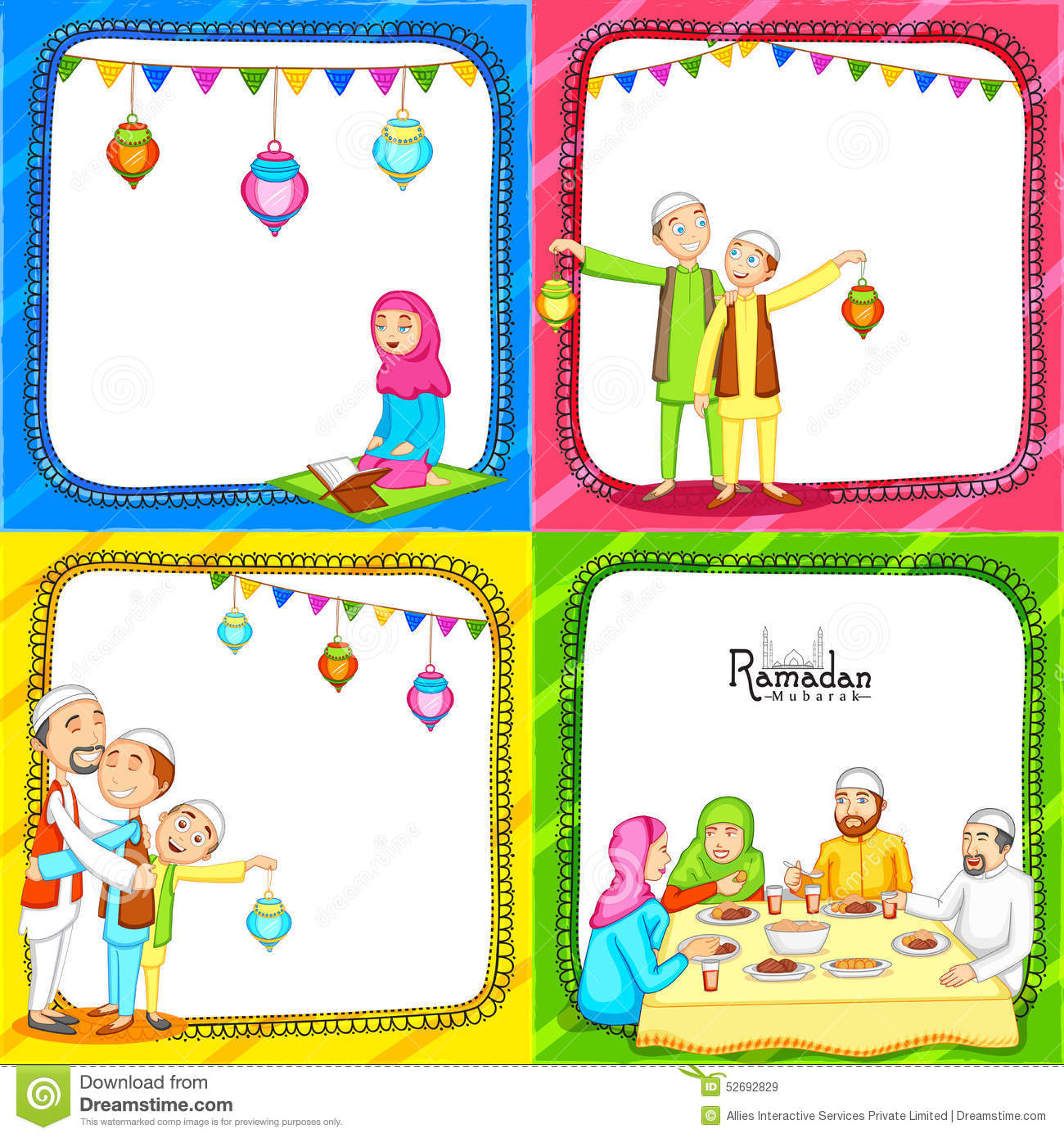 Set of greeting cards for ramadan kareem celebration stock set of greeting cards for ramadan kareem celebration m4hsunfo