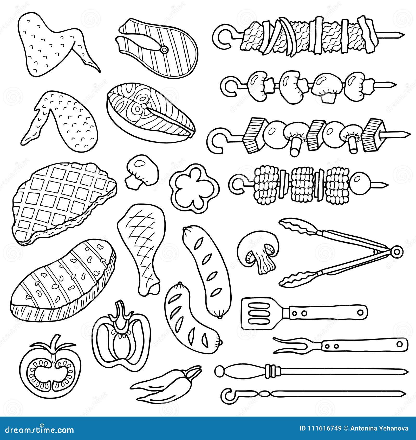 Set grill rzeczy