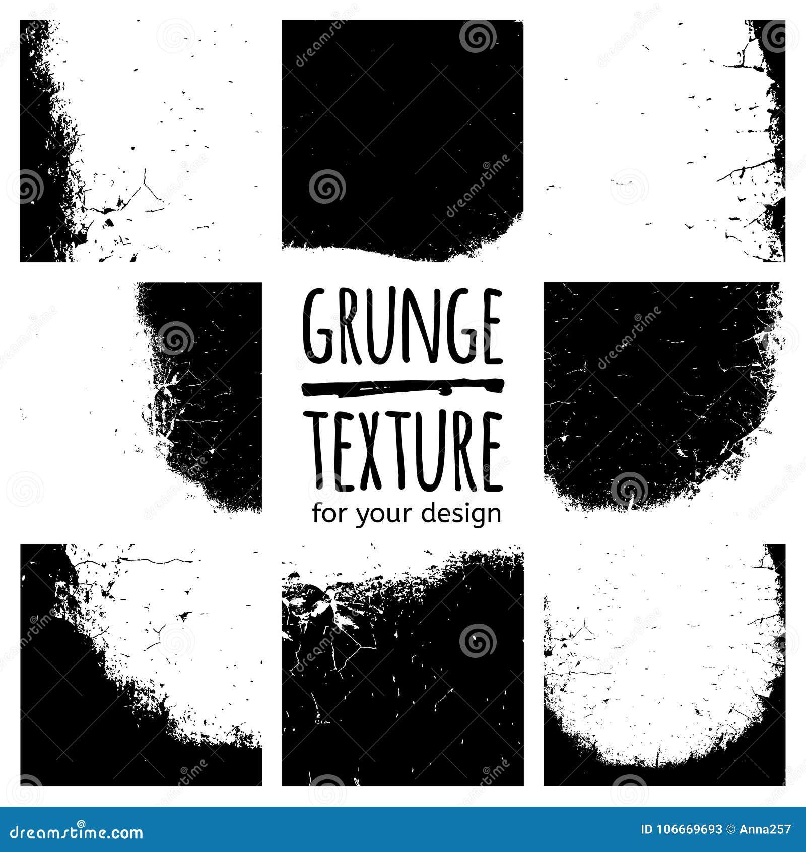 Set of grunge black textures on white background template for download set of grunge black textures on white background template for business card banner colourmoves