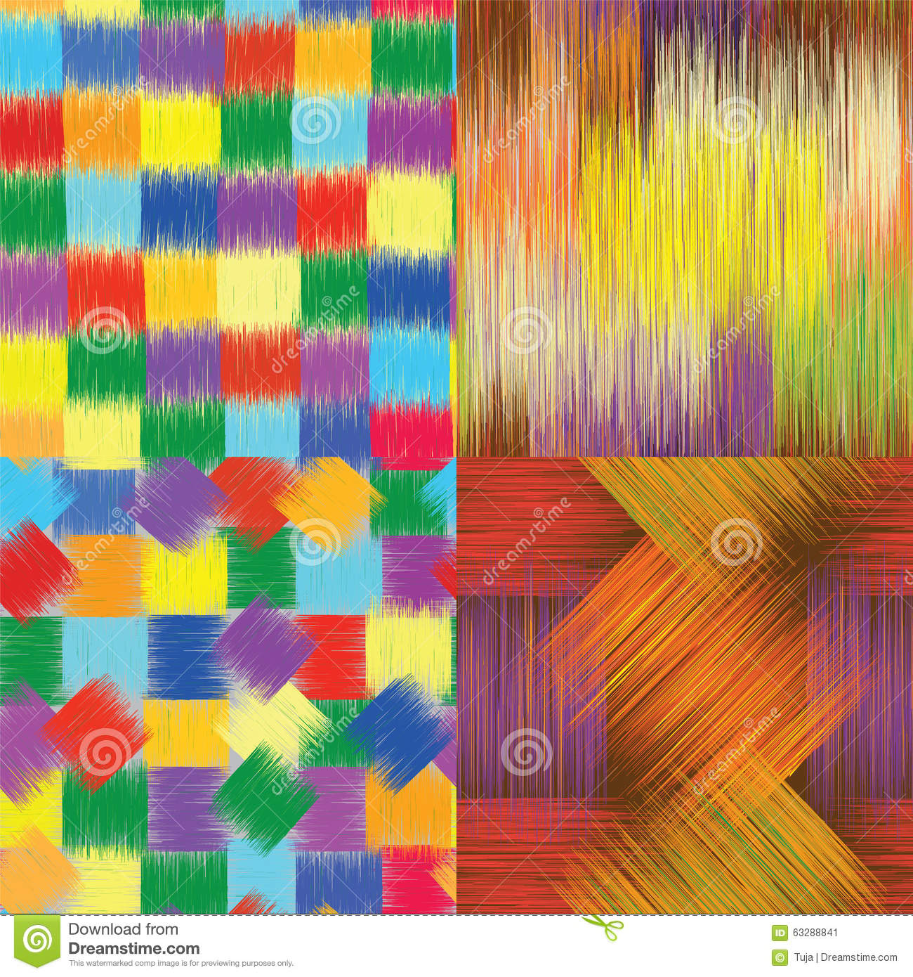 Set of grunge striped checkered and stained seamless for Imagenes de cuadros abstractos famosos