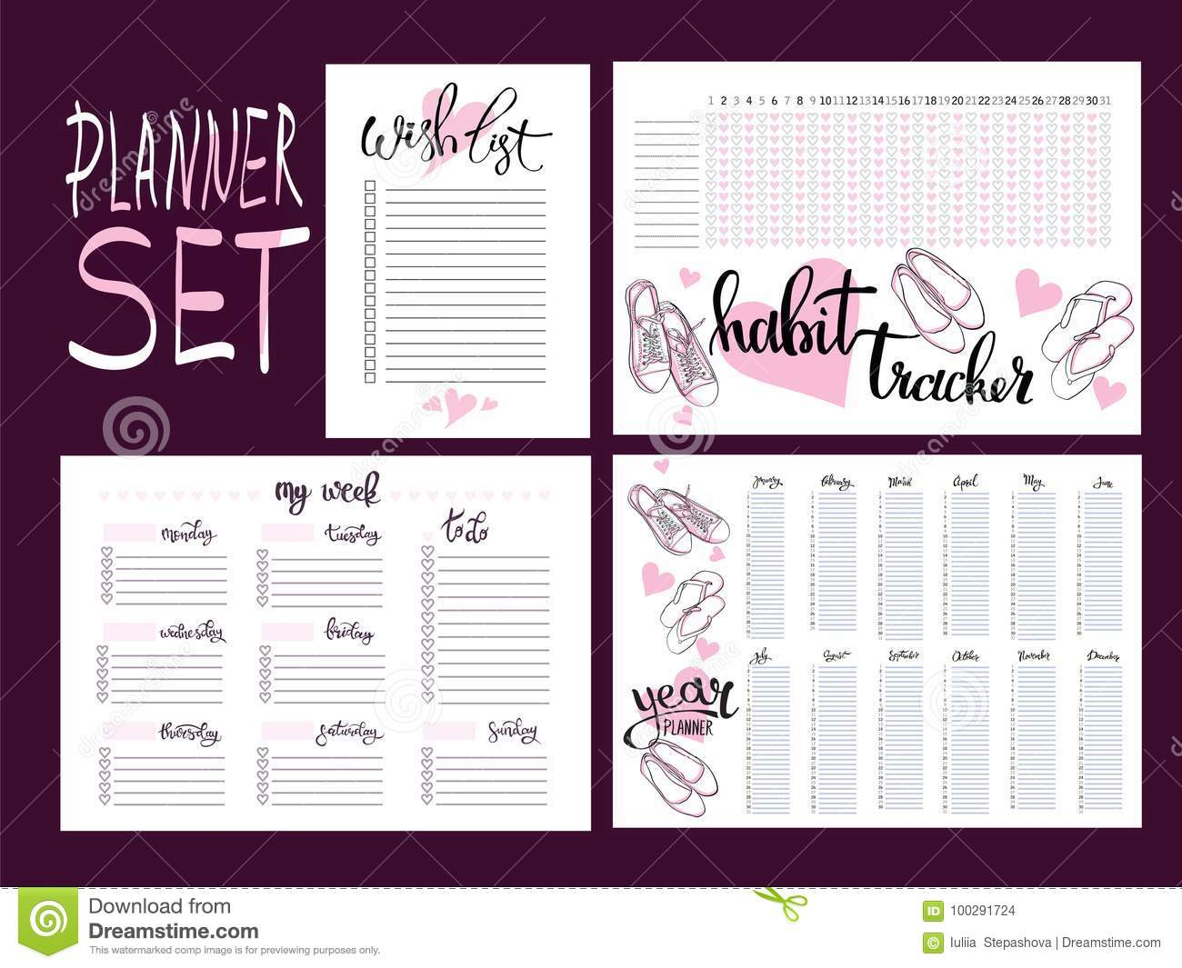 year planner template free download