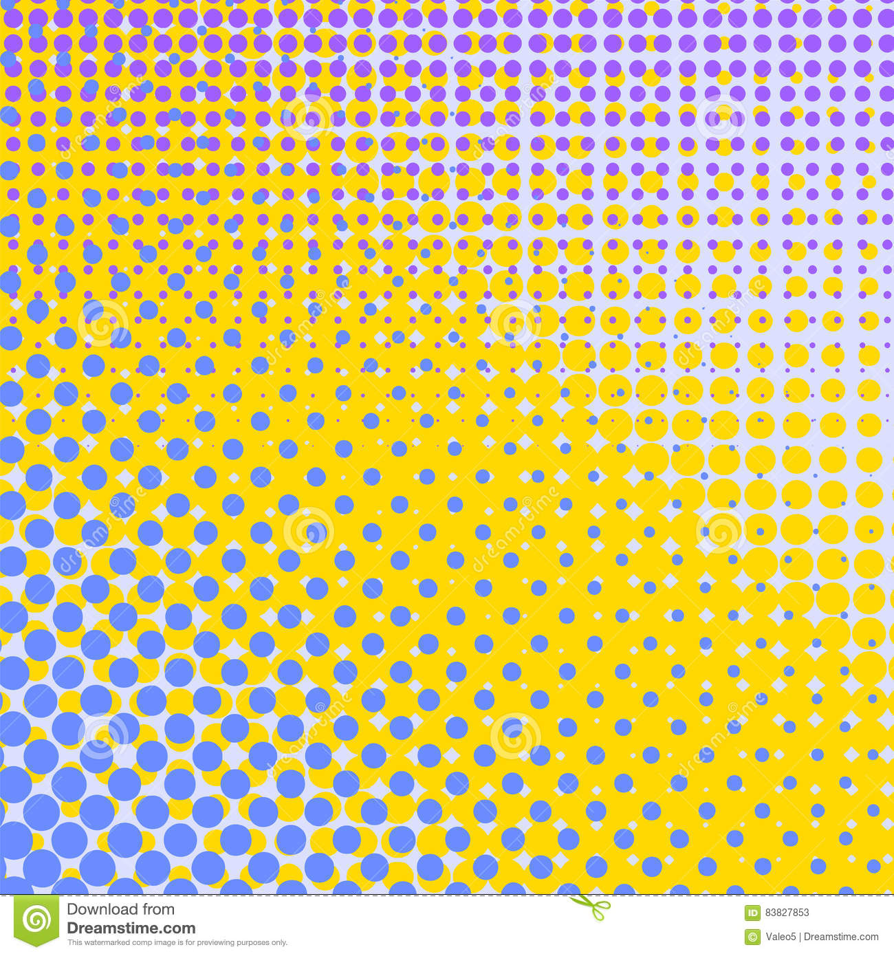 Comic Book Texture Background Set Of Halftone Dots. ...
