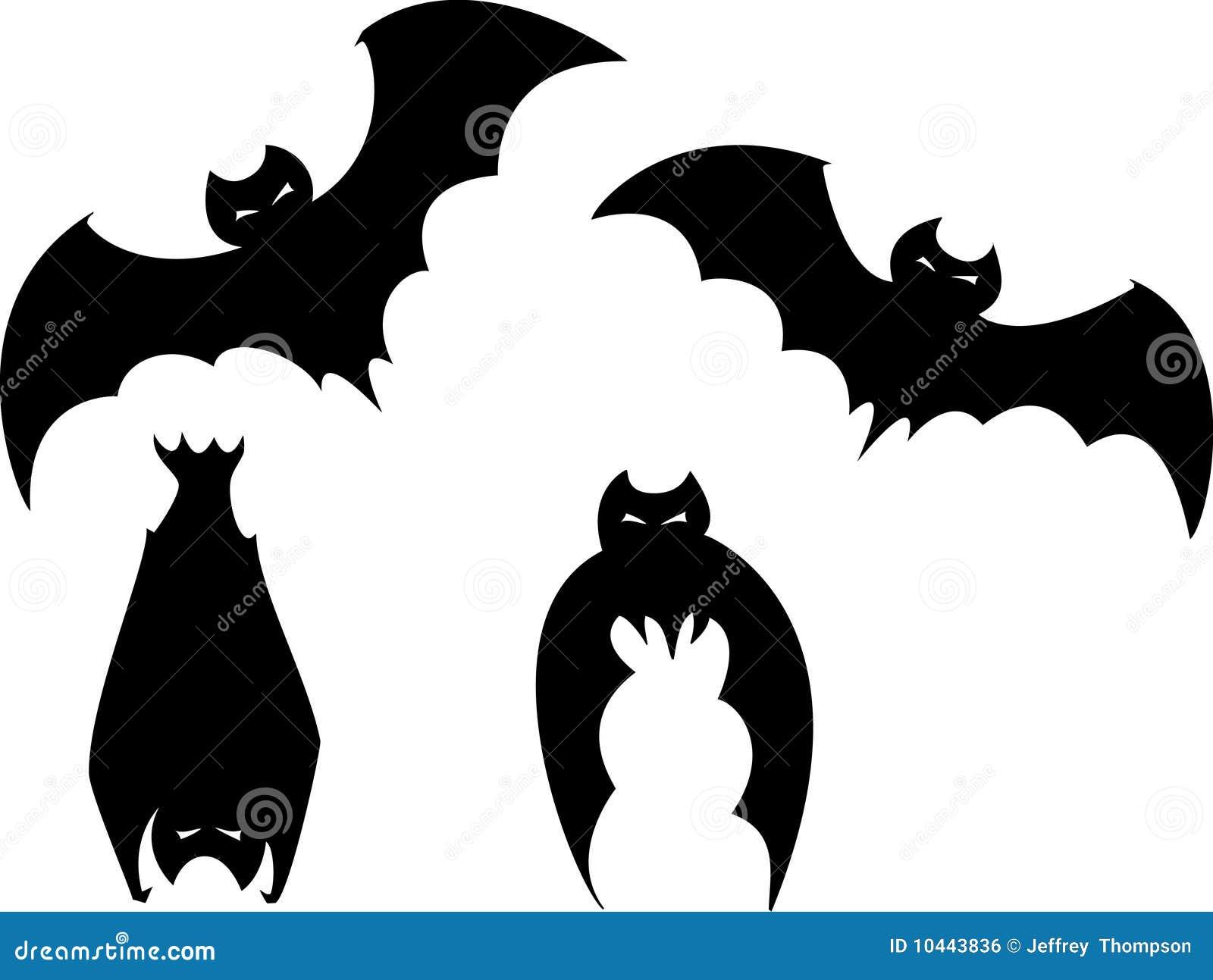 Set Of Halloween Bats Royalty Free Stock Image Image