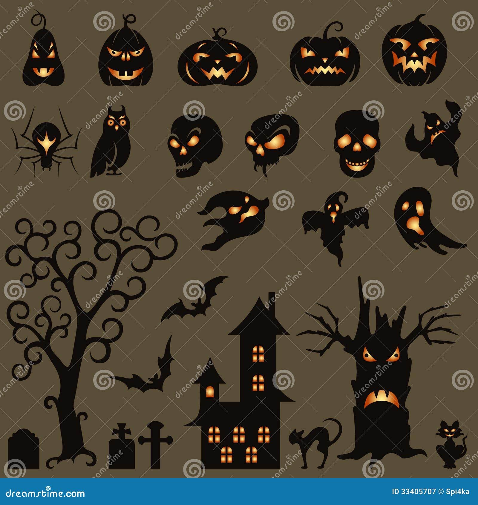 set of halloween design elements royalty free stock photography - Design Halloween