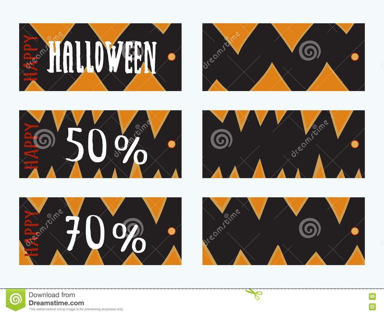 Set Of Halloween Gift Tags Stock Vector Illustration Of Danger Decorative 77552566