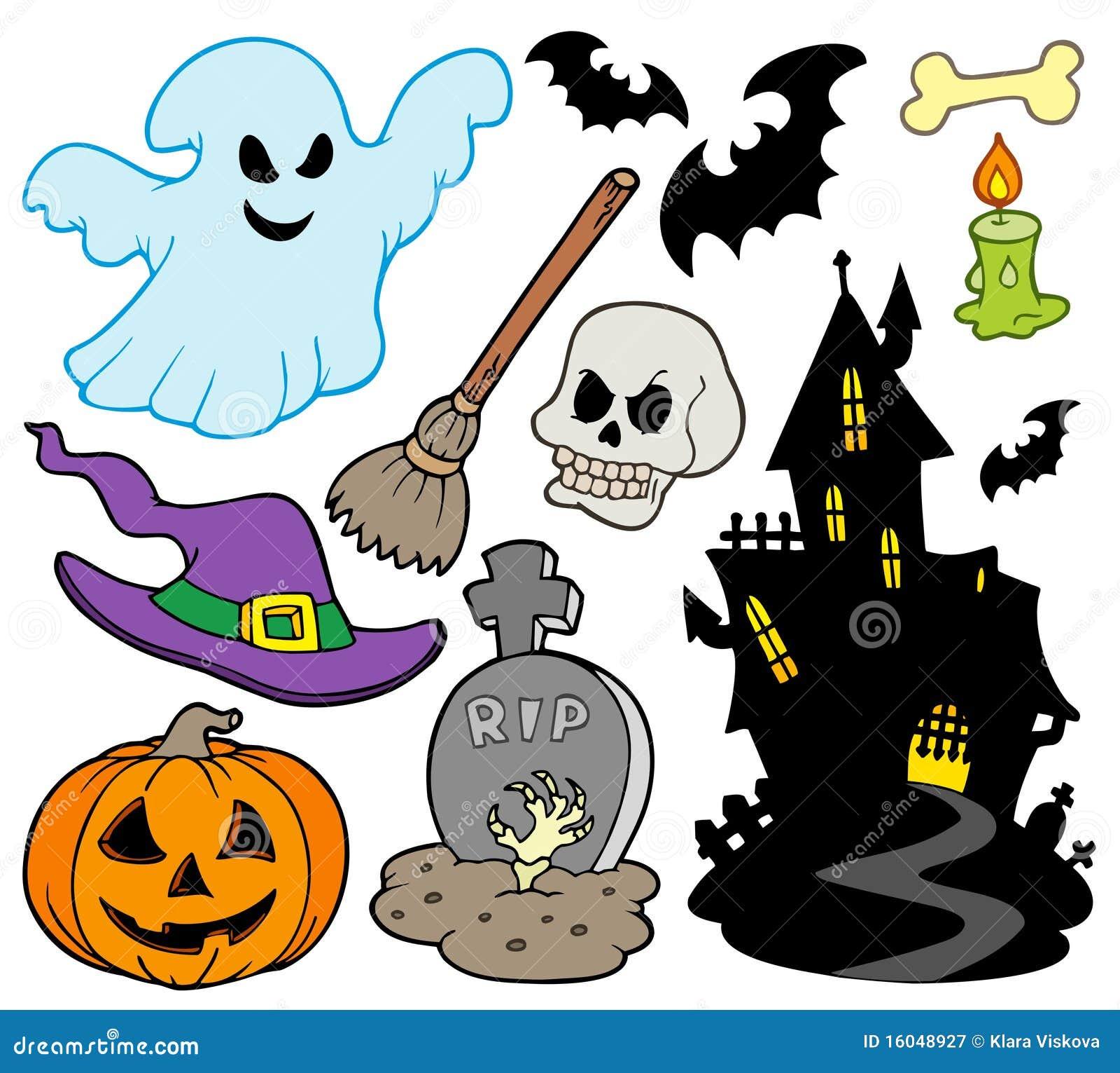 Set of Halloween images