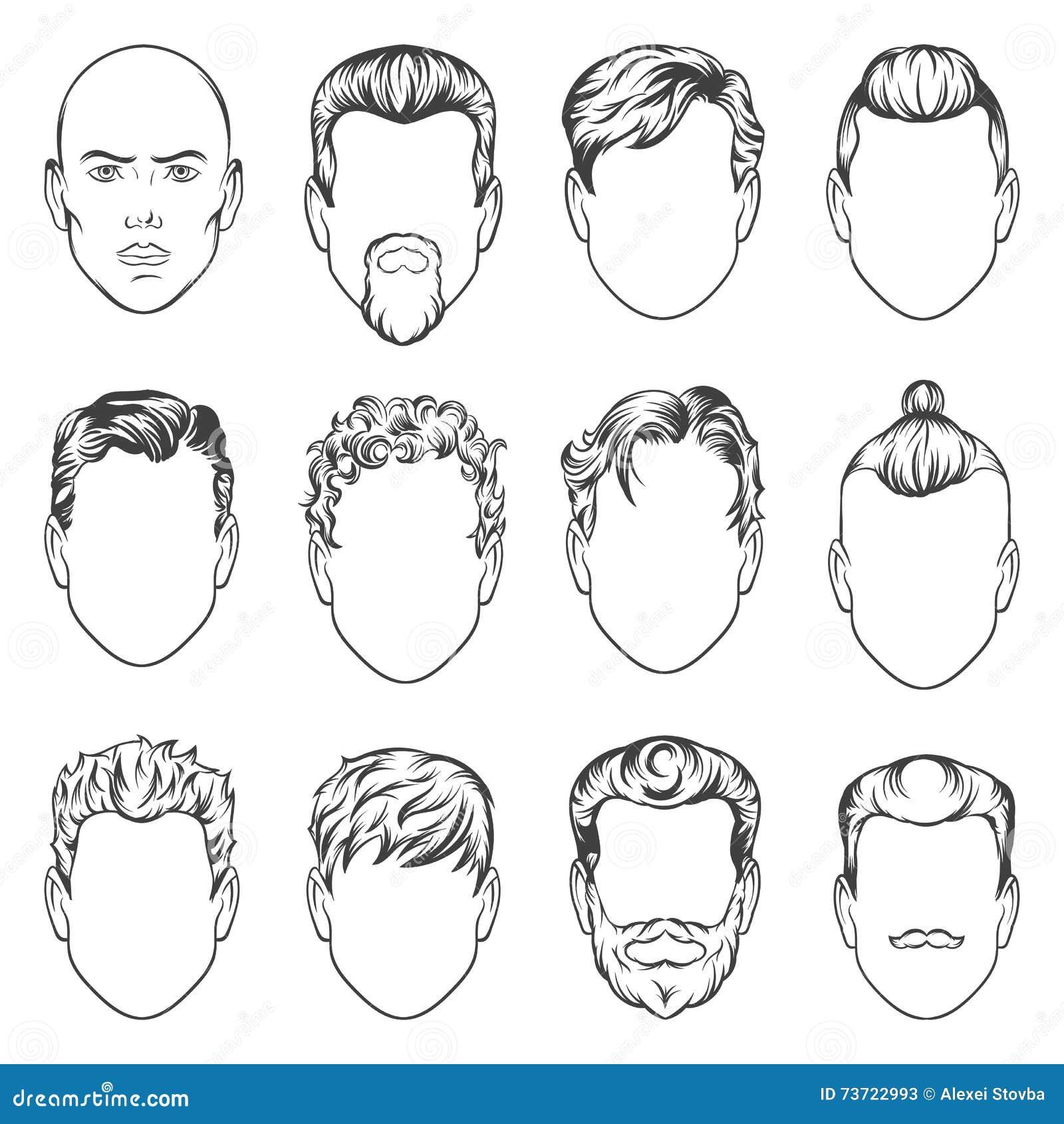 Как рисовать причёски карандашом мужские