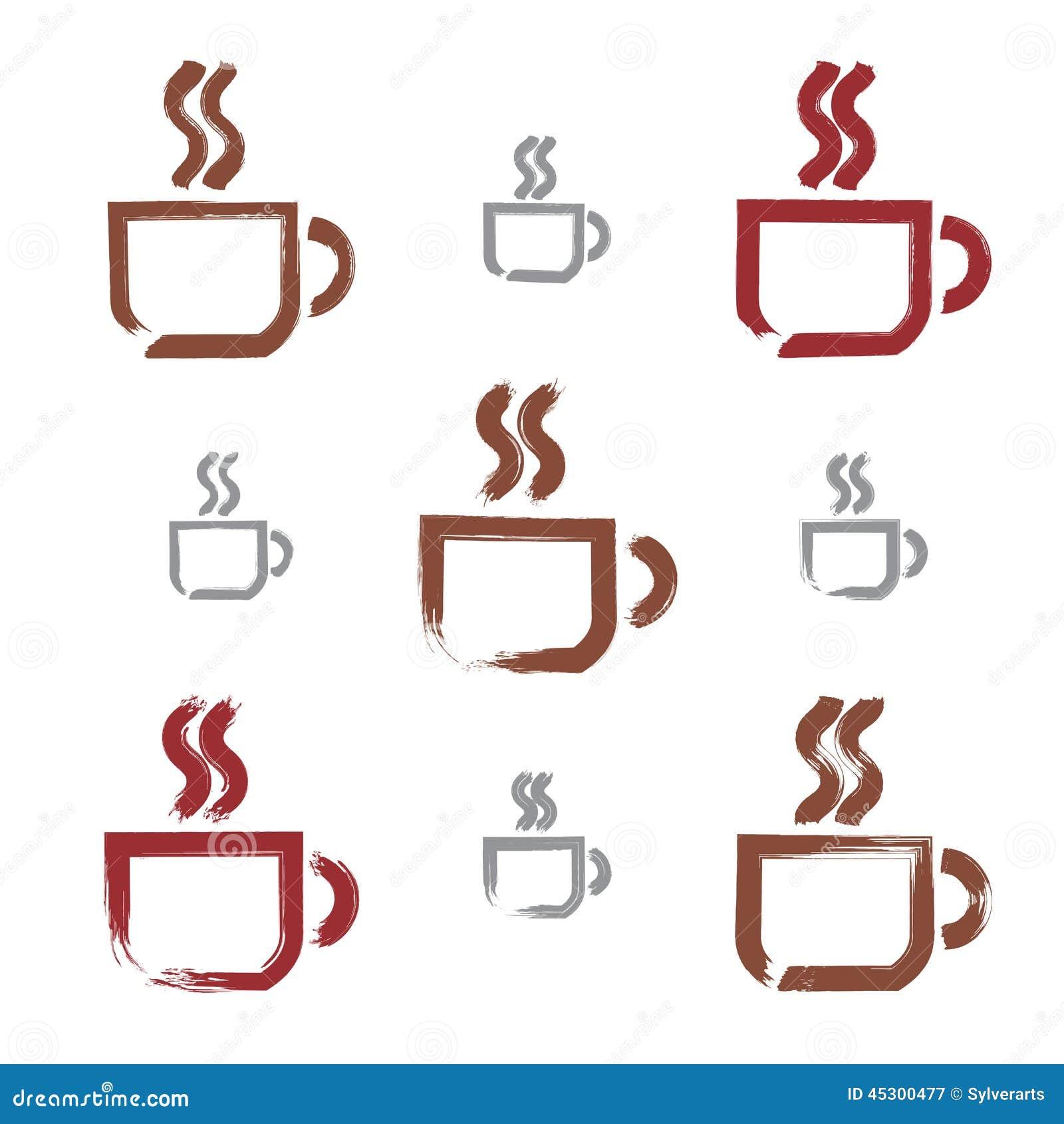 Hand Drawing Coffee Cup Cartoon Vector