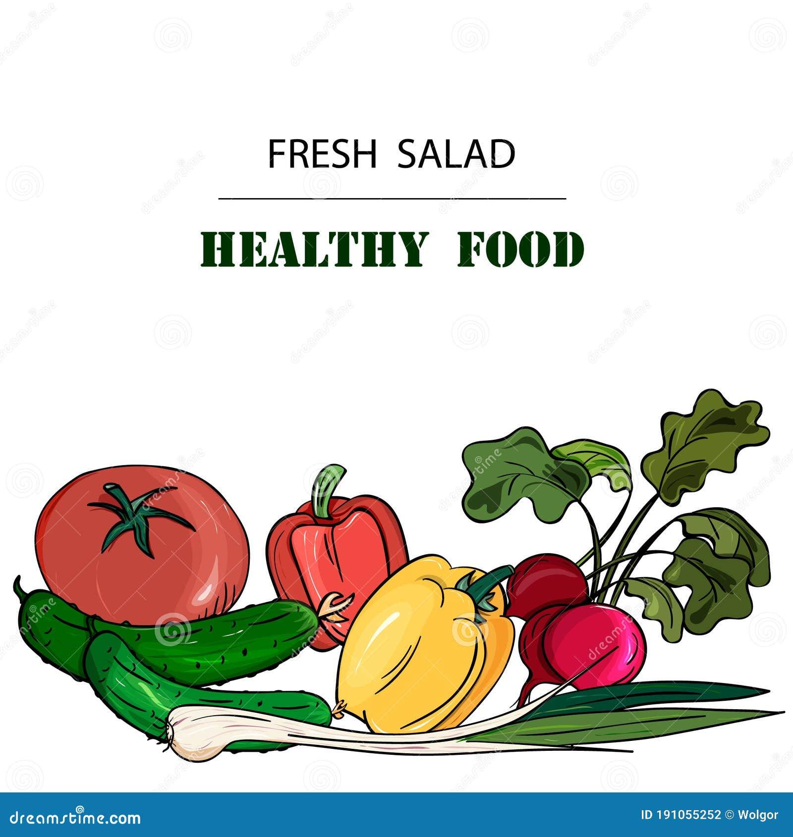 Hand Drawn Vegetables Posters Set. Cartoon Vector