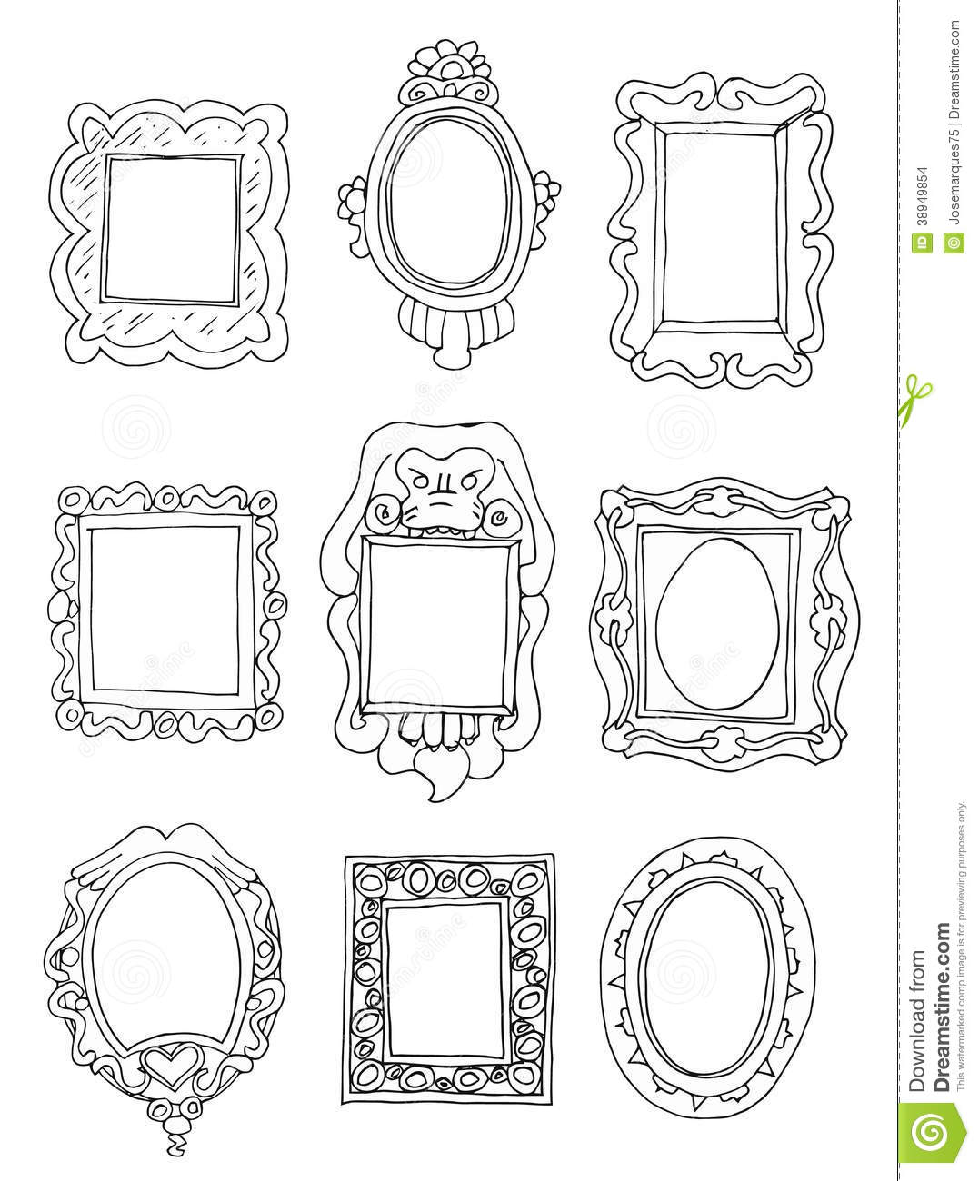 Set Of Hand Drawn Picture Frames Stock Vector Image