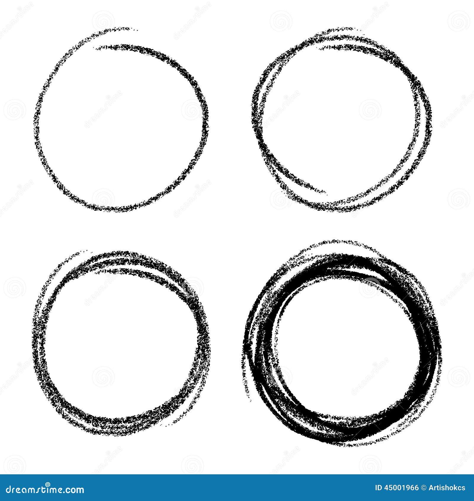 Set Of Hand Drawn Scribble Circles Stock Vector - Image: 45001966