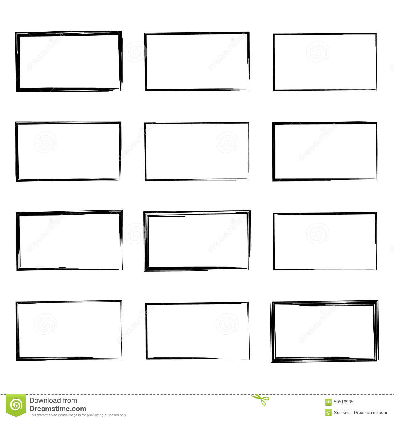 set hand drawn square stock vector illustration of doodle 59516935