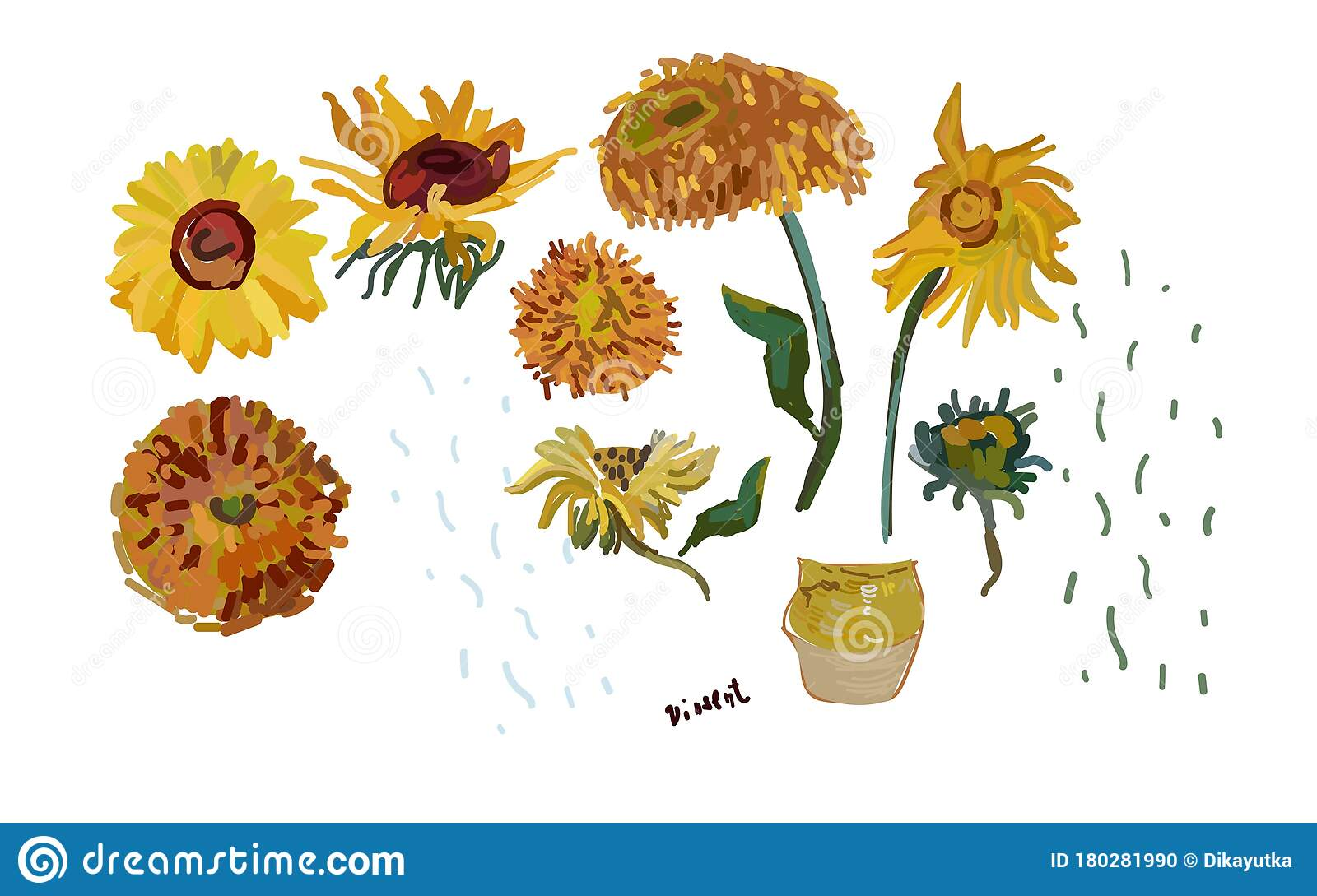 Narcissi flowers. Set of colored flowers. Illustration , #spon, #flowers,  #Narcissi, #Set, #Illustration, #colored | Narcissus flower, Illustration,  Narcissus