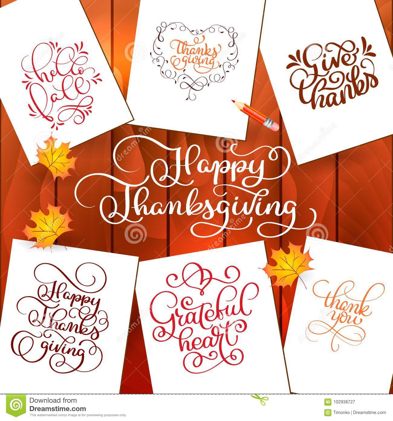Set of hand drawn thanksgiving day texts celebration quotes happy set of hand drawn thanksgiving day texts celebration quotes happy thanksgiving hello fale m4hsunfo