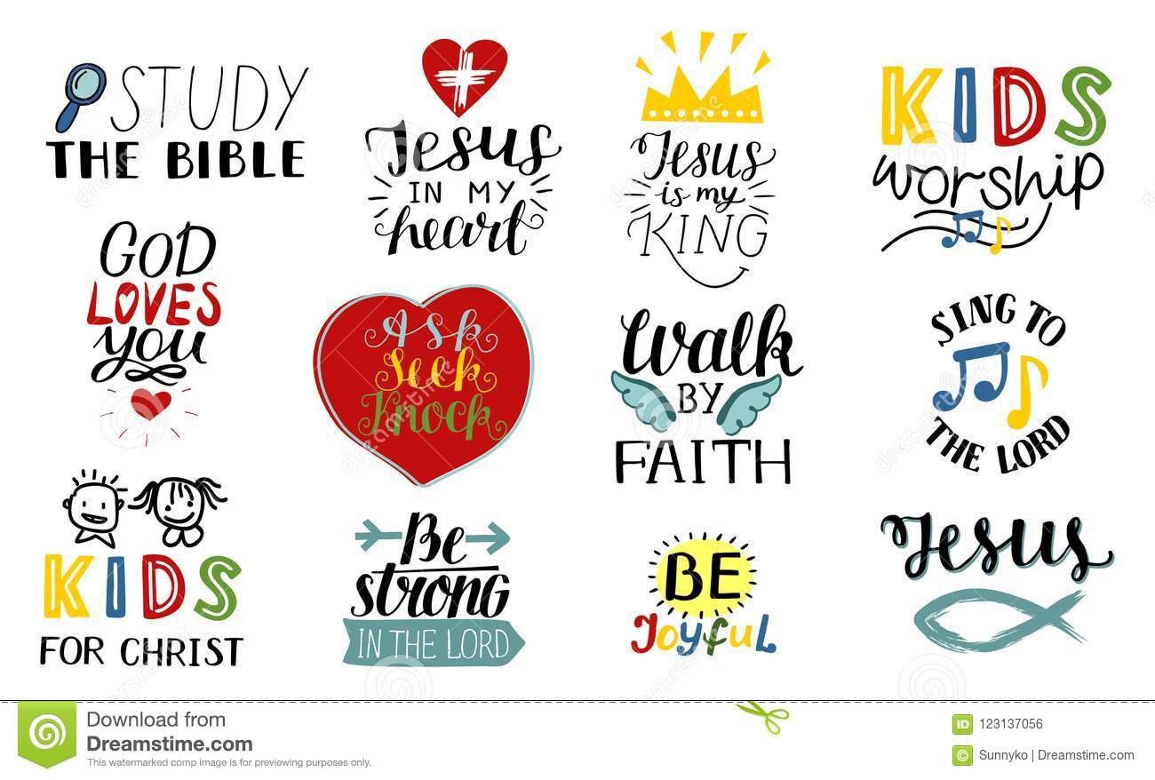 Set Of 12 Hand Lettering Christian Quotes Jesus Is My King Study