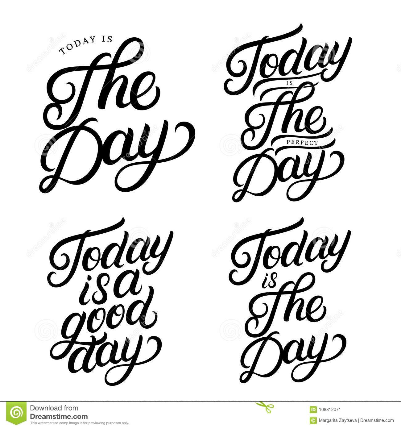 Set Of Hand Written Lettering Quotes Stock Vector Illustration Of