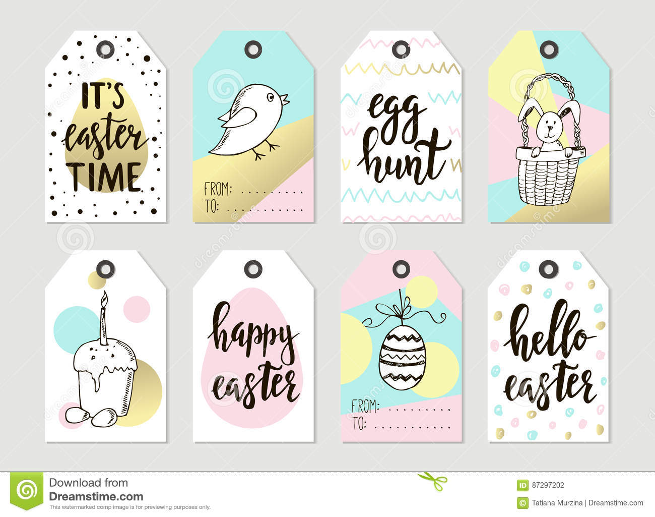 Set with happy easter gift tags and cards with calligraphy royalty free vector download set with happy easter gift tags negle Image collections