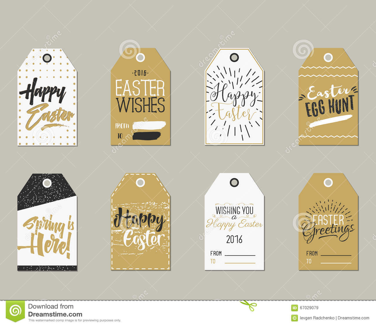 Set of happy easter gift tags with ink lettering signs overlay royalty free vector download set of happy easter gift tags negle Choice Image