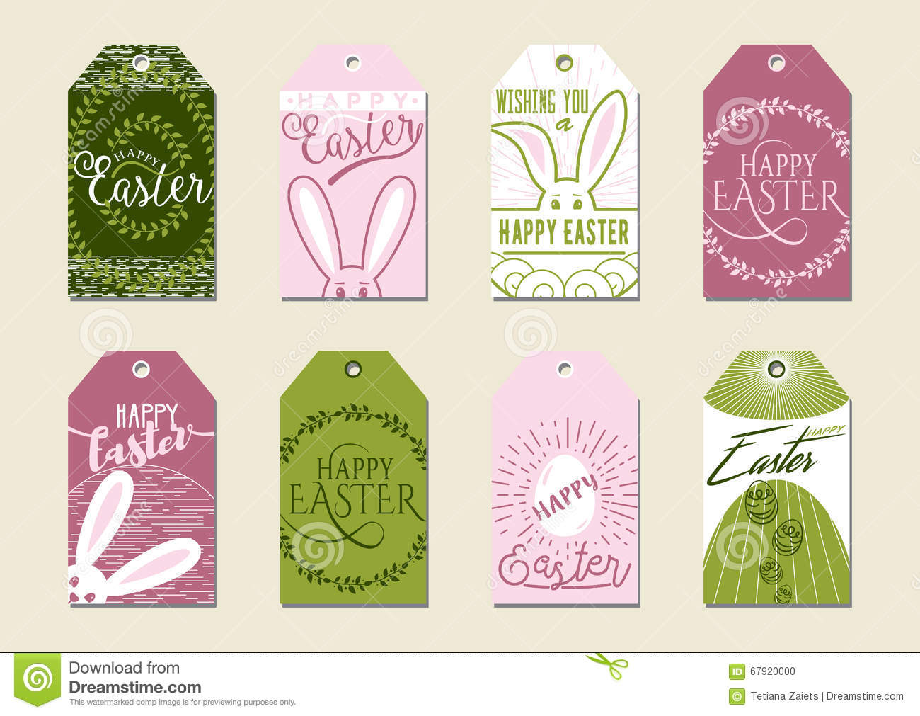 Set of happy easter gift tags for presents and gifts stock vector set of happy easter gift tags for presents and gifts negle Choice Image