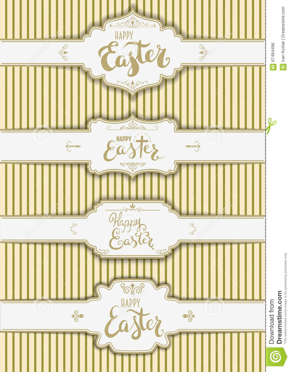 Set Of The Happy Easter Labels Templates. Stock Vector ...