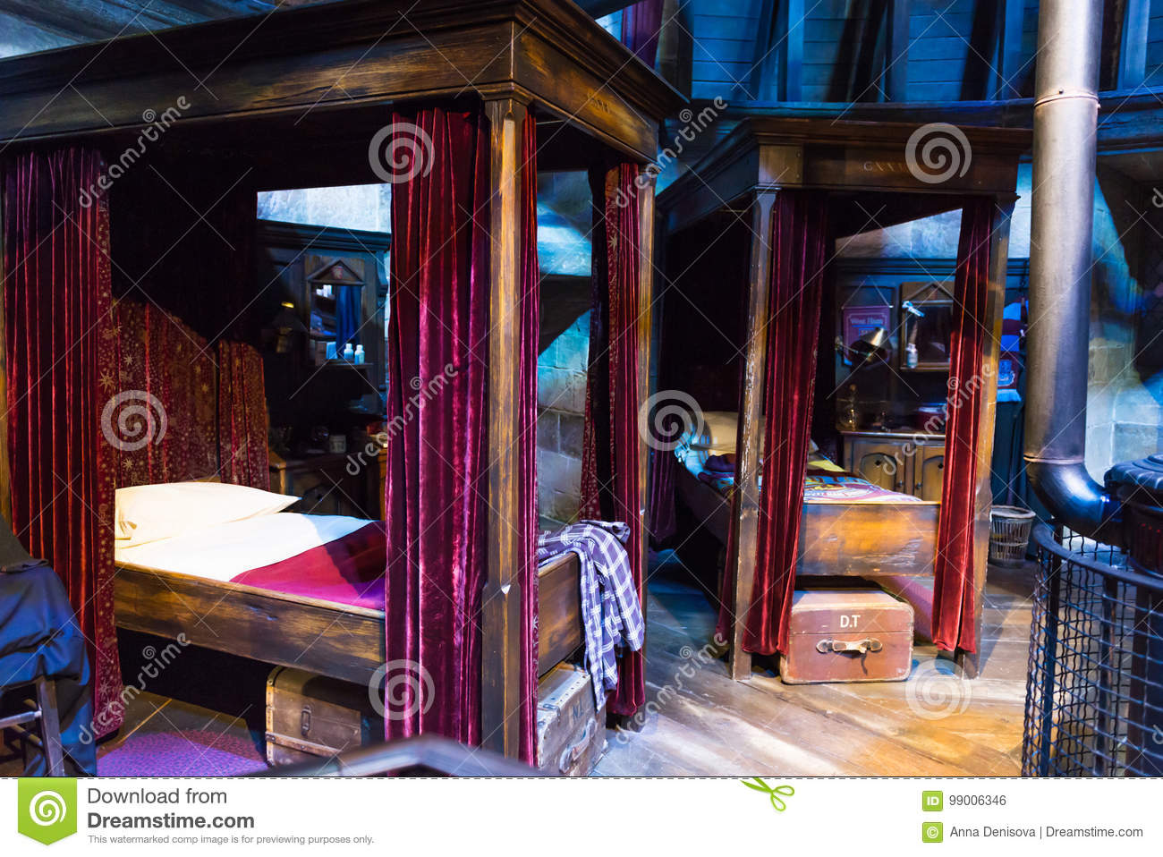 The Set Of Harry Potter And Other Students Bedroom In