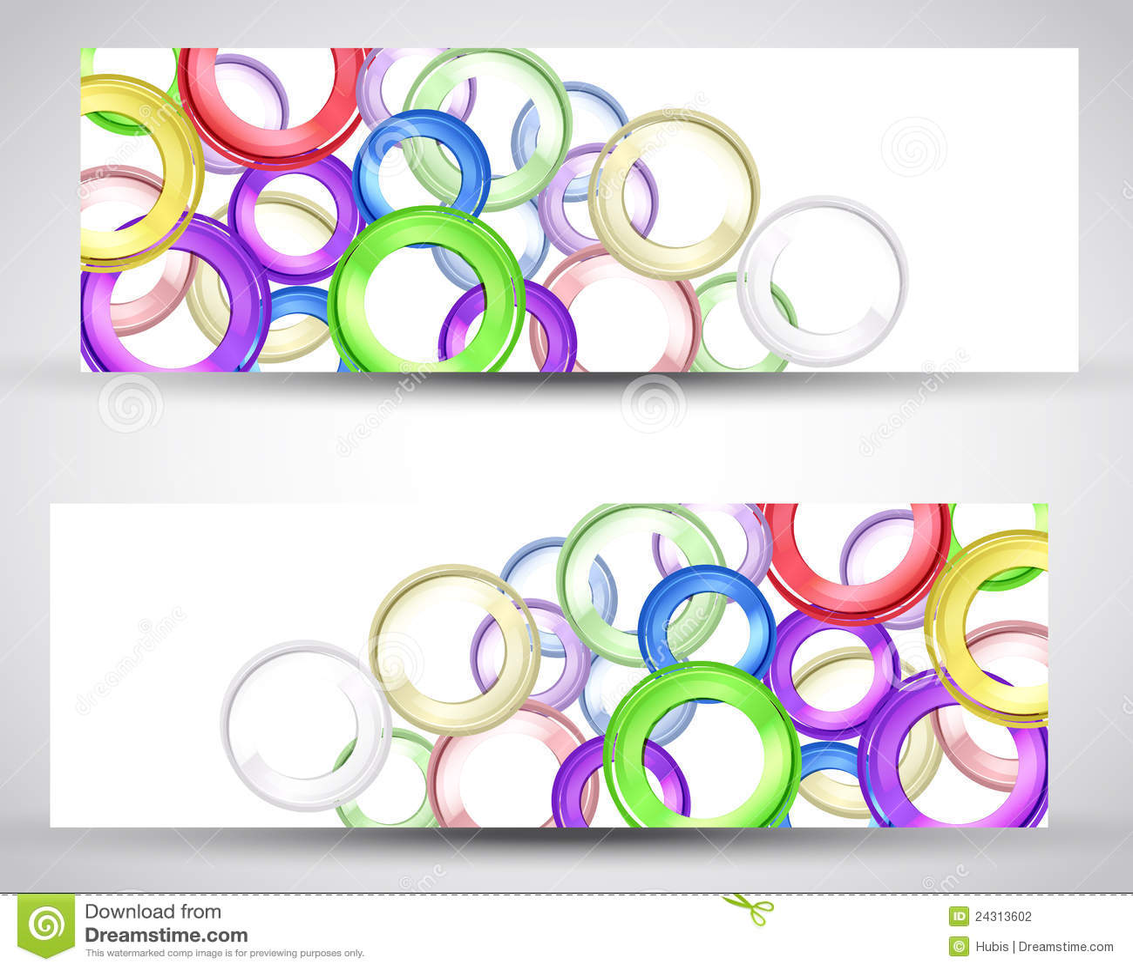 Set Header Card Design Stock Photography - Image: 24313602