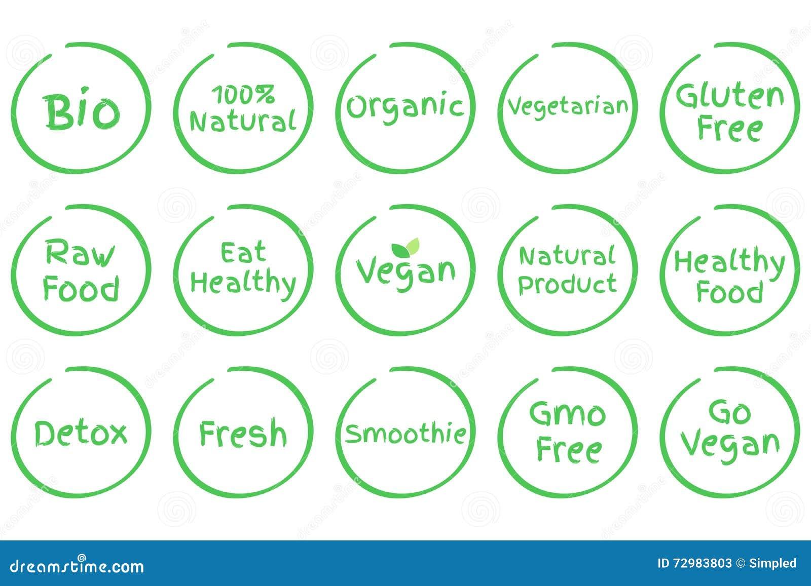 Public Domain Healthy Food Symbols
