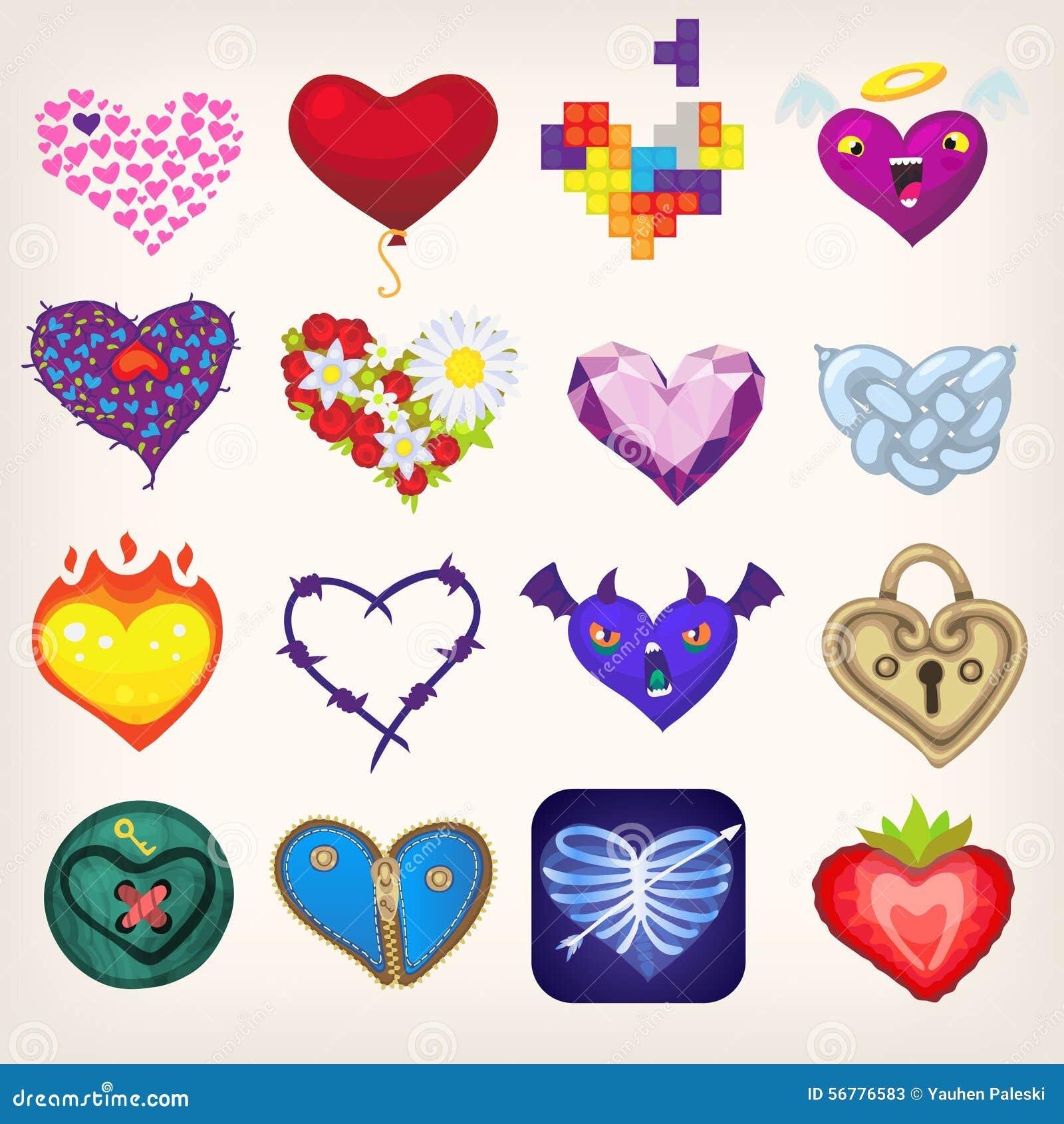 Angel And Devil Hearts Cartoon Vector