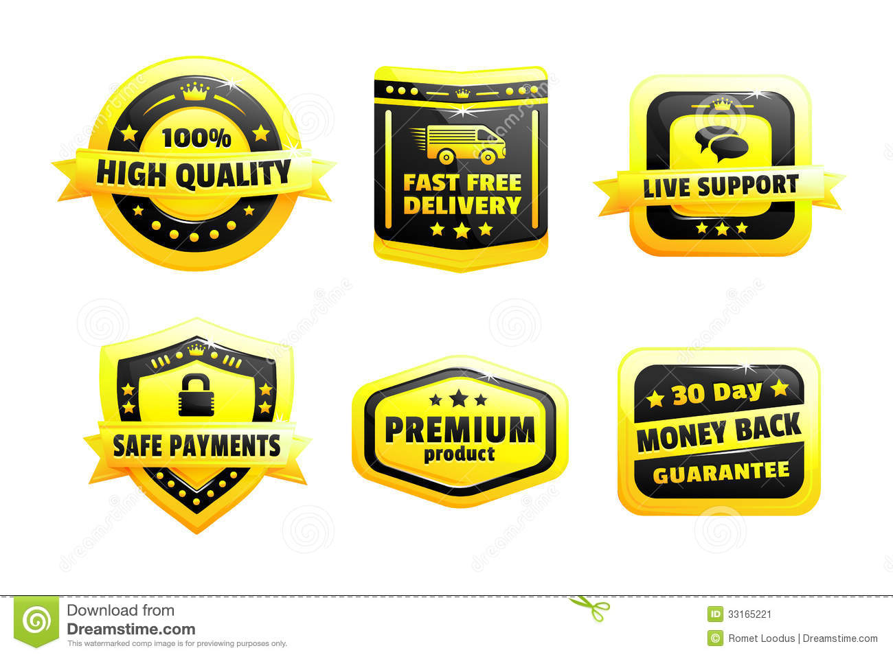 A Set Of High Quality Badges Stock Image