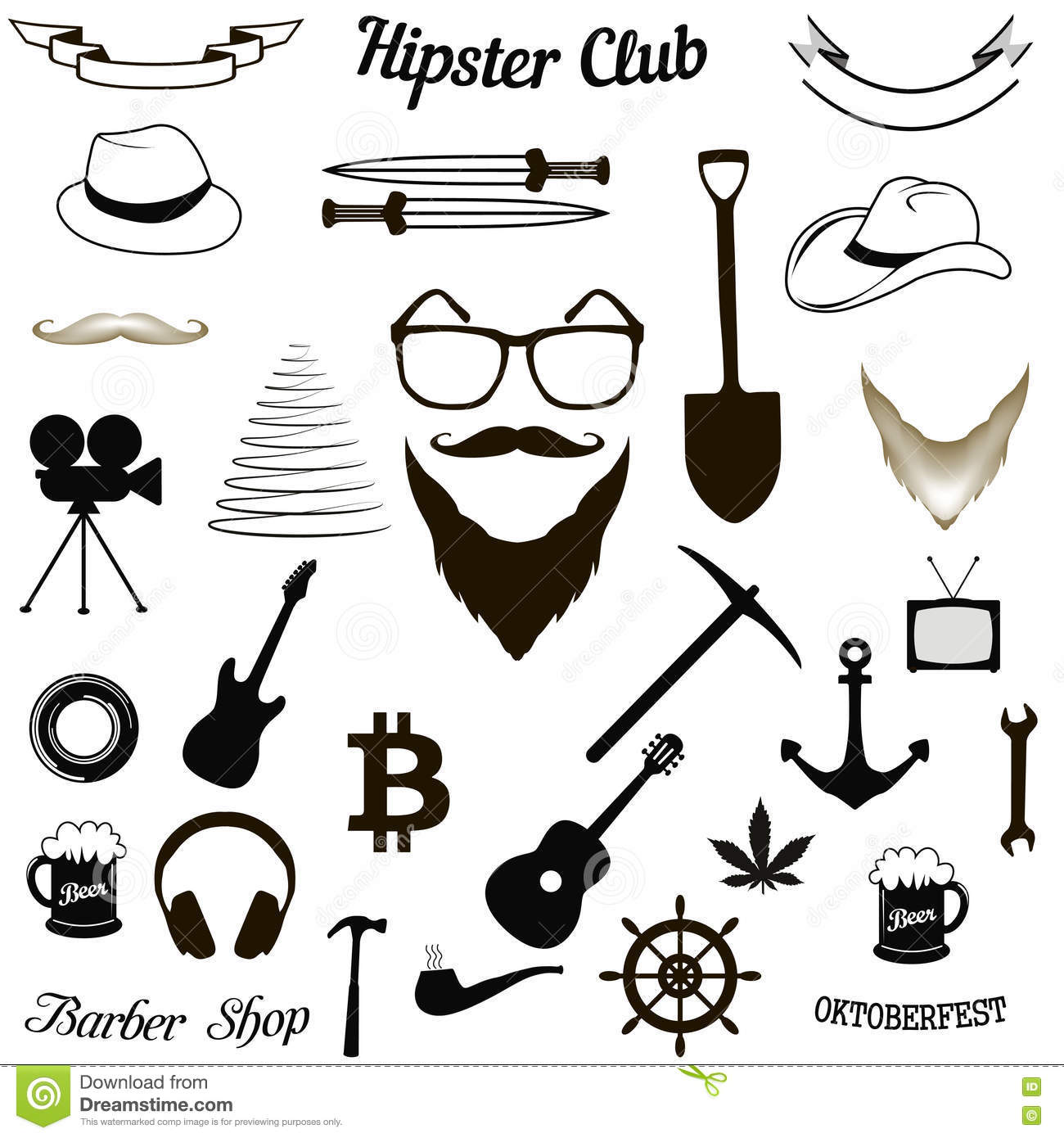 Set hipster icons