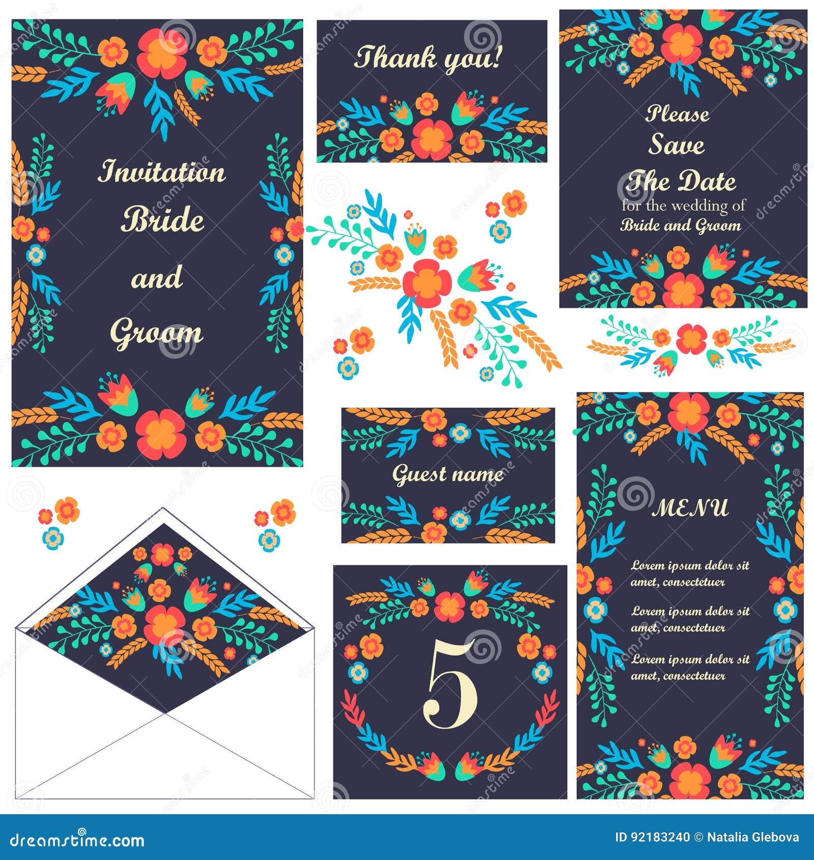 Set Hochzeitskarten Danke Zu Kardieren Danke Zu Kardieren Sichern